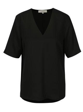 Bluza neagra cu decolteu in V Selected Femme Zoe