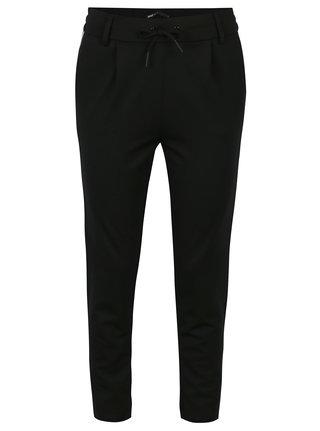 Černé kalhoty s pružným pasem ONLY Poptrash 2b4ab90f51