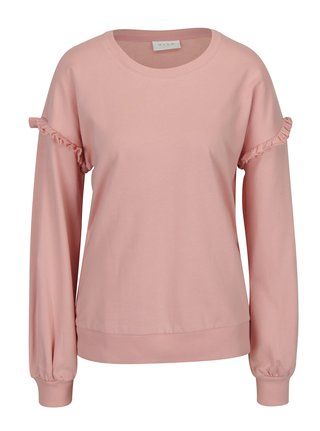 Bluza roz cu volane pe maneci -  VILA Lovely