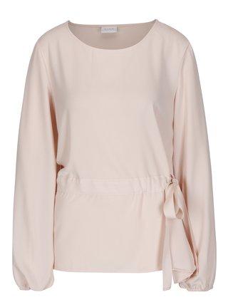 Bluza roz cu cordon in talie - VILA Sarina
