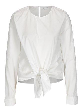 Bluza alba cu nod decorativ in fata - VILA Justy