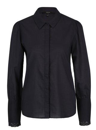 a61ad98a3709 Tmavomodrá košeľa s čipkou na rukávoch VERO MODA Nessa