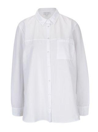 Biela košeľa s náprsným vreckom Gina Laura