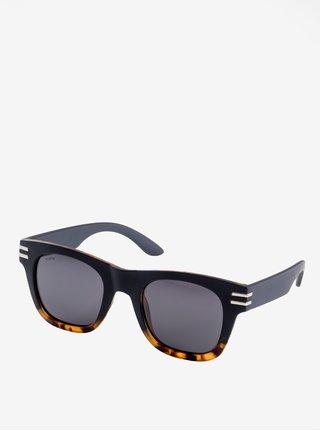 Hnědo-černé dámské sluneční brýle s postříbřenými detaily Pilgrim Kennedy