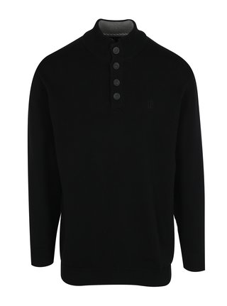 Čierny sveter s gombíkmi JP 1880