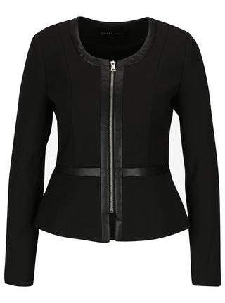 Černé dámské sako na zip Pietro Filipi