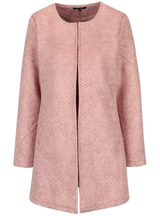 Růžový vzorovaný kabát s kapsami Yest