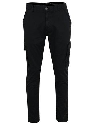 Černé pánské kalhoty s kapsami Calvin Klein Gravel