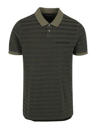Khaki pánské polo tričko Calvin Klein Jeans Pallas