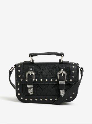 Čierna crossbody kabelka s ozdobnými cvokmi Miss Selfridge