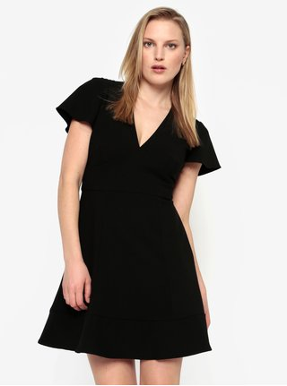 Rochie scurta neagra cu decolteu in V - French Connection Whisper