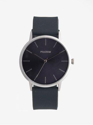 Dámske hodinky s tmavosivým silikónovým remienkom Pilgrim Aurelia