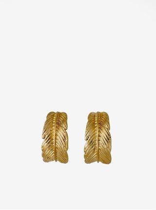 Pozlacené kruhové náušnice ve zlaté barvě Pilgrim  Lauren