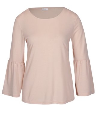 Bluza roz pal cu maneci clopot Jacqueline de Yong Minni