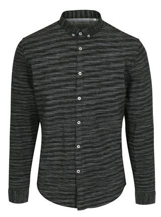 Tmavě šedá žíhaná košile Lindbergh