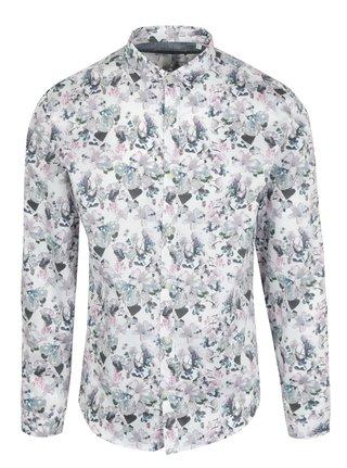 Krémová kvetovaná košeľa Lindbergh