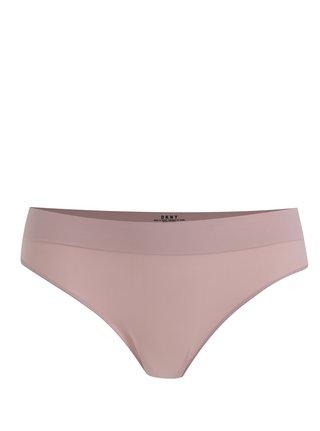 Chiloti tanga roz pudrat cu banda lata - DKNY