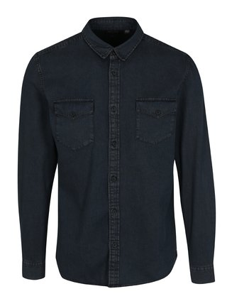 Camasa slim fit bleumarin din denim - ONLY & SONS Negredo