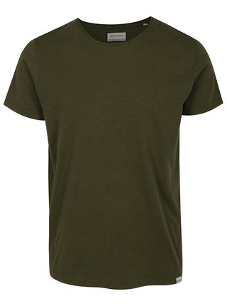 Khaki žíhané basic tričko Shine Original