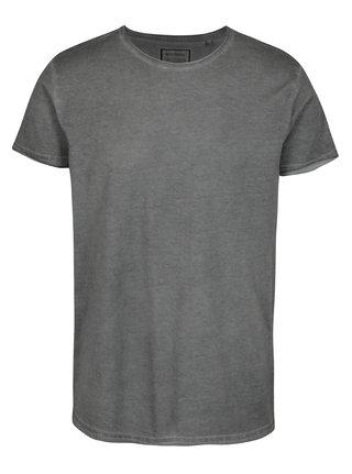 Sivé tričko s potlačou na chrbte Shine Original