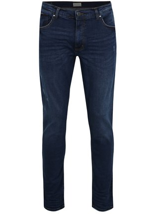 Blugi slim fit bleumarin cu aspect prespalat -  Shine Original