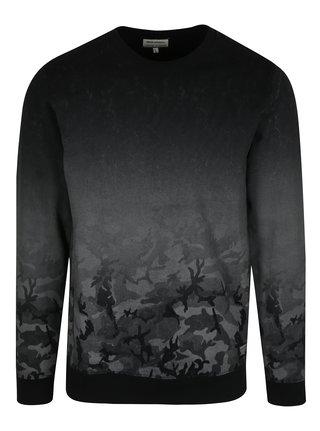 Sivo-čierna mikina s maskáčovým vzorom Shine Original