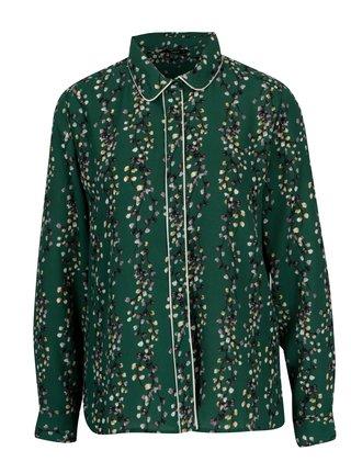 Tmavě zelená květovaná košile ONLY Ditte 3d86abf127