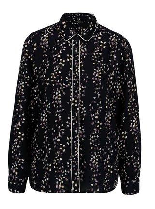 Tmavomodrá kvetovaná košeľa ONLY Ditte