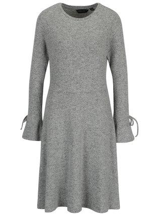 Rochie pulover gri melanj cu maneci clopot - Dorothy Perkins Tall