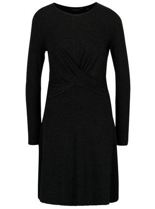 Tmavě šedé šaty s dlouhým rukávem Dorothy Perkins 27ec0471b1