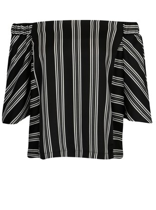 Bluza neagra in dungi cu maneci 3/4 Dorothy Perkins