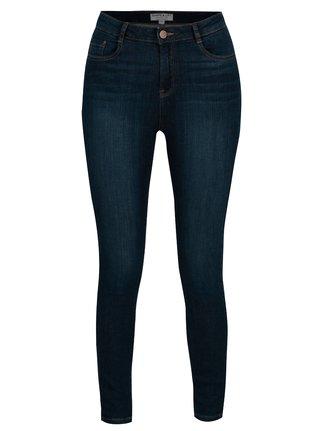 Modré regular džíny s vysokým pasem Dorothy Perkins Shape & Lift