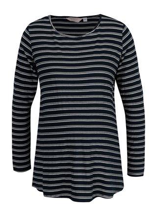 Tmavomodré pruhované tehotenské tričko Dorothy Perkins Maternity