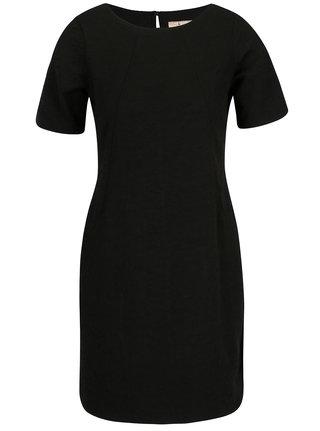 Černé šaty s drobným plastickým vzorem Billie & Blossom Petite