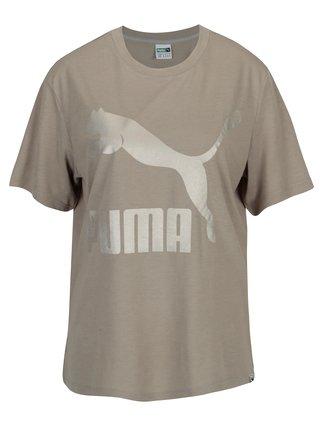 Tricou gri cu print logo pentru femei Puma