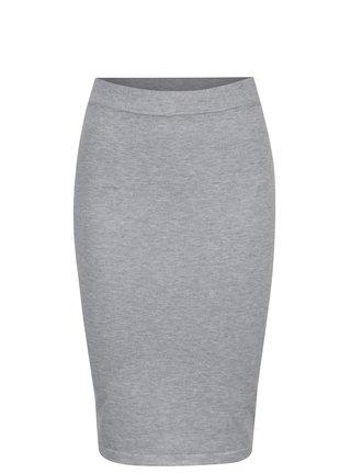 Světle šedá pouzdrová sukně VILA Gema