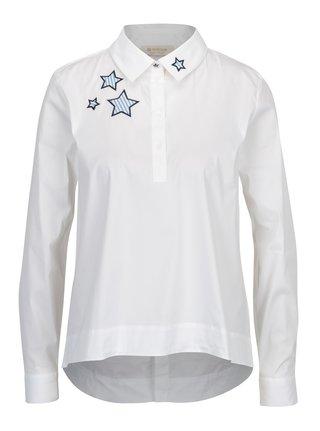 Bílá košile s nášivkami Rich & Royal