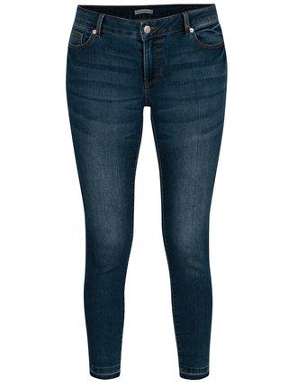 Modré dámské zkrácené skinny džíny s nízkým pasem Jacqueline de Yong 74802569fd