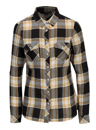 Krémovo-černá kostkovaná košile TALLY WEiJL