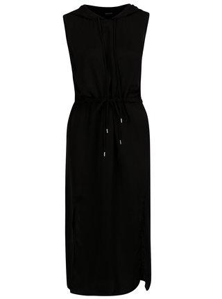 Čierne dlhé šaty s kapucňouNoisy May
