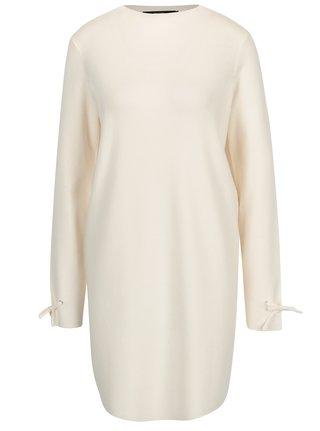 Krémové svetrové šaty VERO MODA Pocha