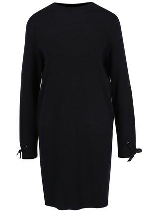 Tmavomodré svetrové šaty VERO MODA Pocha