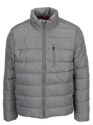Sivá melírovaná prešívaná zimná bunda Burton Menswear London