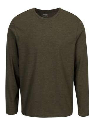 Bluza verde melanj basic Burton Menswear London