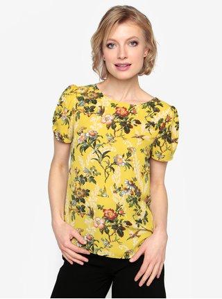Bluza galbena cu print floral - Oasis Rosetti