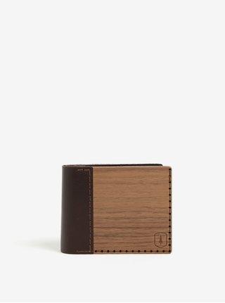 Hnedá drevená peňaženka BeWooden Virilia