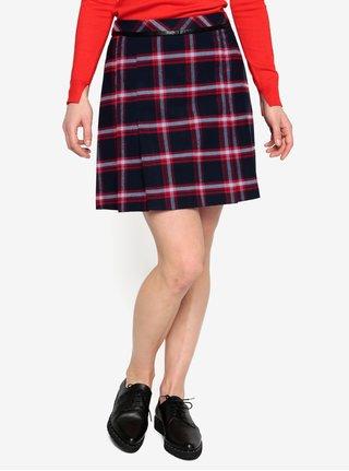 Tmavomodrá károvaná sukňa Oasis Marais