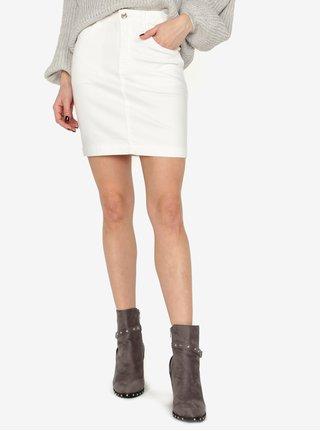Krémová džínová sukně MISSGUIDED