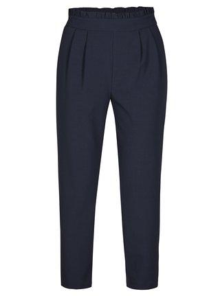 Tmavě modré kalhoty s vysokým pasem ONLY Roma