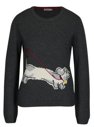 Sivý dámsky sveter s prímesou vlny Cath Kidston